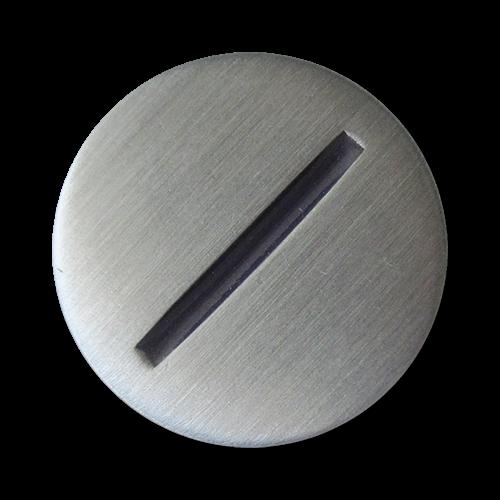 www.Knopfparadies.de - 5328bs - Moderne Metallknöpfe mit blauem Strich
