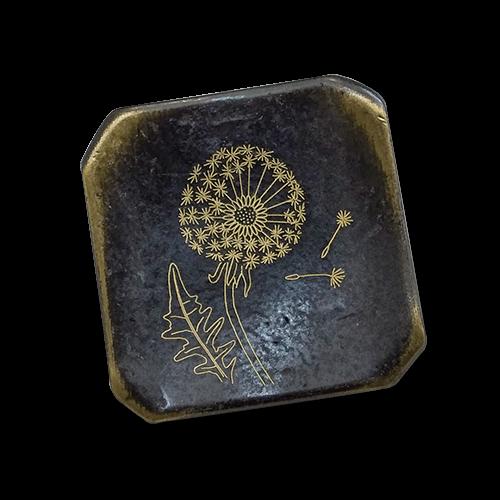 Schöne Metallknöpfe mit Pusteblume