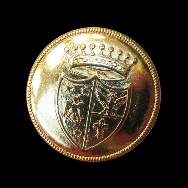 Goldfarbenr Wappen Ösenknopf (2420)