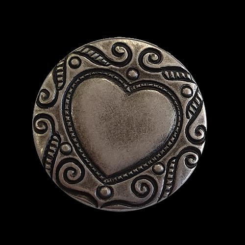 www.knopfparadies.de - d744as - Zünftige Trachtenknöpfe mit hübschem Herzmotiv