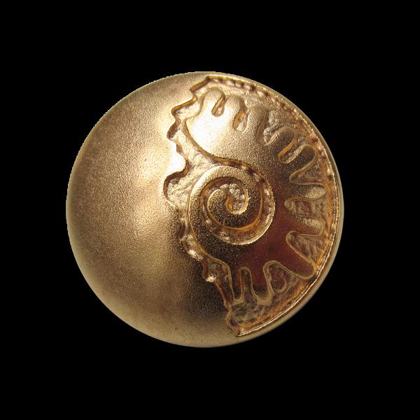 Wundervoller Metallknopf mit mystischem Muster