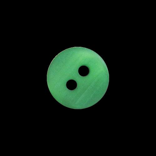 www.knopfparadies.de - 4090gn - Grün schimmernde Kinderknöpfe aus Kunststoff