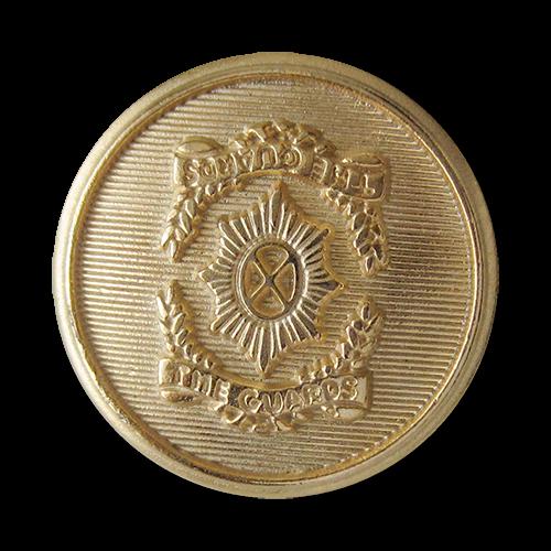 www.Knopfparadies.de - 1668go - Imposante goldene Wappenknöpfe aus Metall