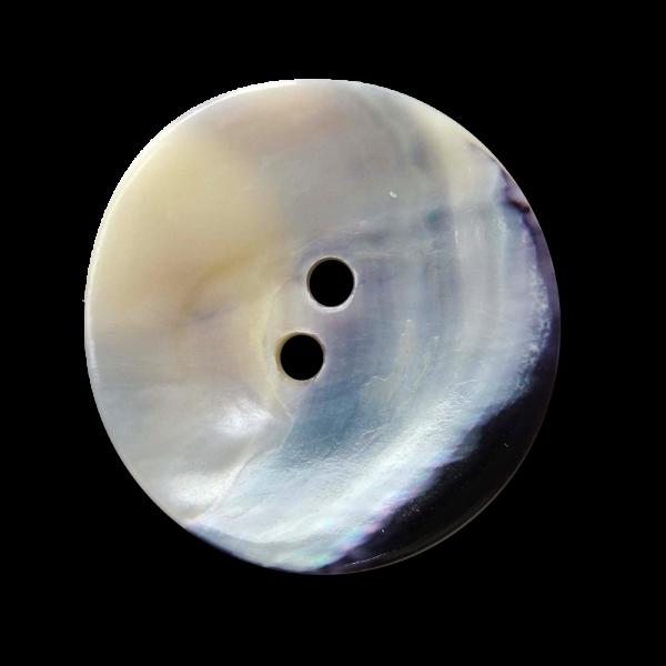 Bildschöner stark gewölbter Perlmutterknopf