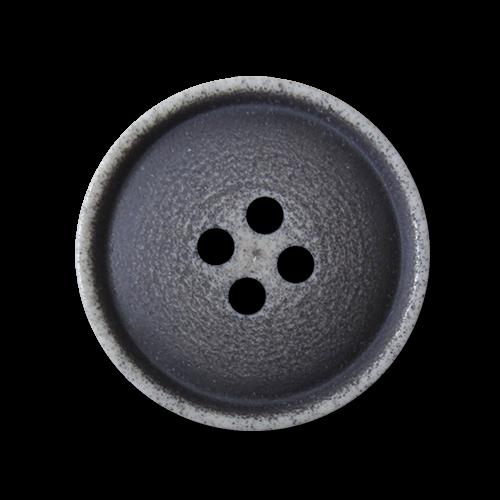 Einfacher blau weißer Vierloch Knopf aus Kunststoff