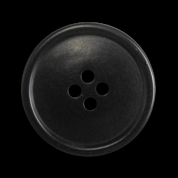 Klassischer schwarzer Mantelknopf aus Steinnuss