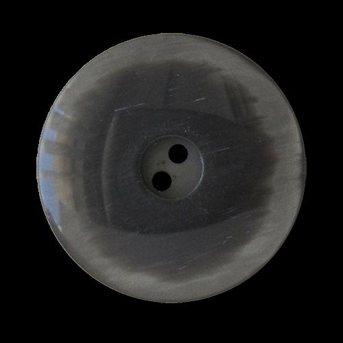 www.Knopfparadies.de - 2741gr - Grau schimmernde Kunststoffknöpfe mit Wendefunktion