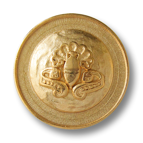 www.Knopfparadies.de - 1556go - Goldene Metallknöpfe mit antiker Amphore