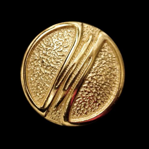 Interessanter goldfarbener Designerknopf