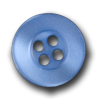 Packung 25 hübsche, blau schimmernde Knöpfe