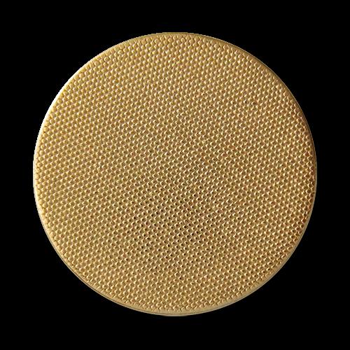 www.knopfparadies.de - 1692go - Günstige Metallknöpfe in gold, fein strukturierte Oberfläche