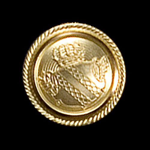 www.knopfparadies.de - Kleine goldfarbene Uniformknöpfe mit Wappen und Krone