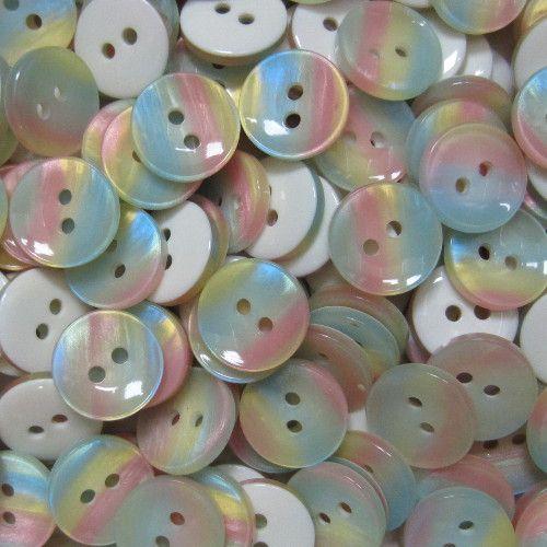 www.knopfparadies.de - k616 - Hübsche Blusenknöpfe in bunten Pastellfarben