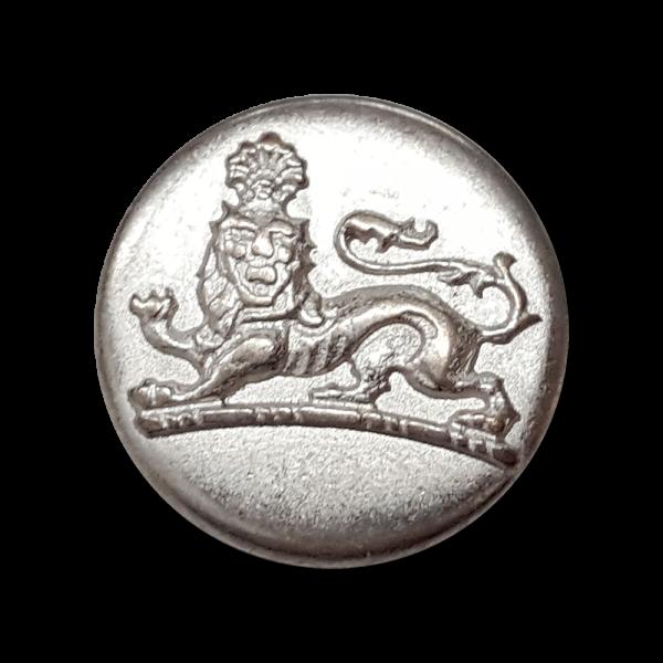 Silberfarbene Metallknöpfe mit Löwen Motiv