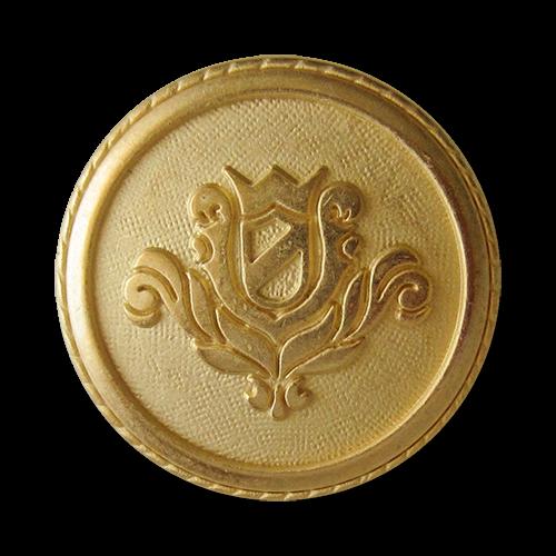 www.Knopfparadies.de - 0320go - Stilvolle Wappenknöpfe aus Metall