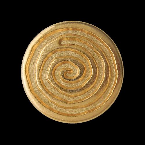 Goldfarbene Metall Ösen Knöpfe mit großer Spirale