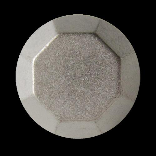www.Knopfparadies.de - 5841as - Silberne Metallknöpfe wie Schraubenköpfe