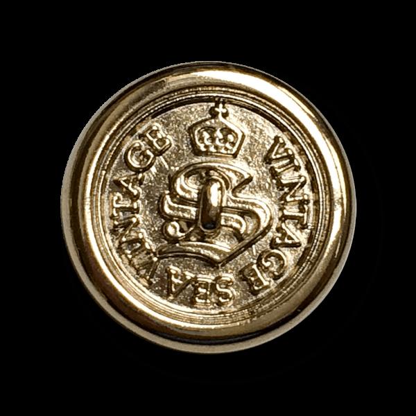 Eleganter blass goldfb. Metall Knopf für Blazer, etc.