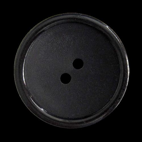 www.knopfparadies.de - 5829sc - Günstige schwarze Zweilochknöpfe