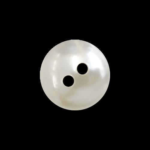 www.knopfparadies.de - 5272pm - Kleine, naturweiß schimmernde Blusenknöpfe aus Kunststoff