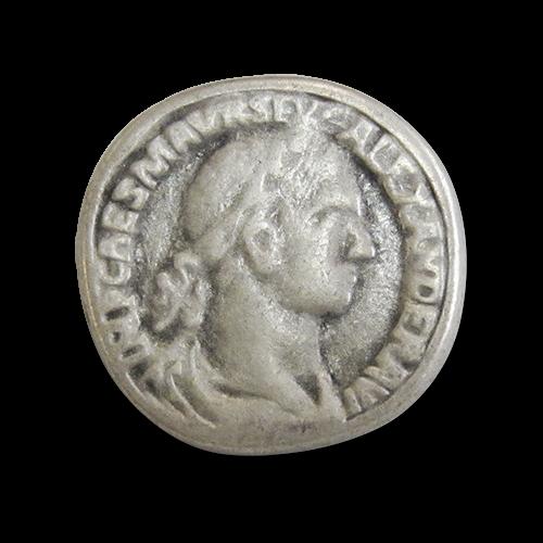 www.knopfparadies.de - 3936as - Historische Metallknöpfe wie alt römische Münzen