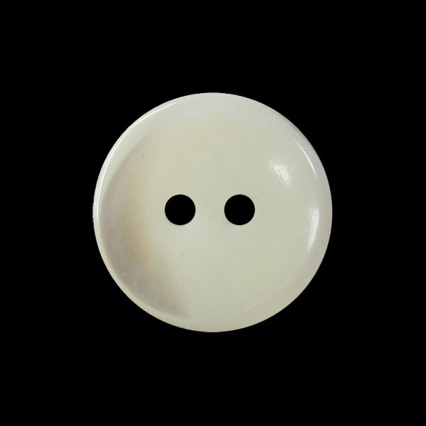 Echter edler weißer Zweiloch Knopf aus Perlmutt