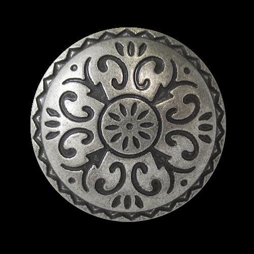 www.knopfparadies.de - 5748as - Altsilberfarbene Trachtenknöpfe aus Metall