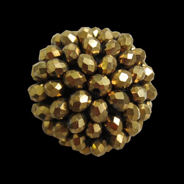 Extravaganter Halbkugel Knopf mit goldfarbenen Perlen