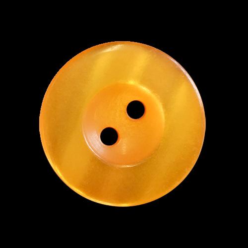 www.knopfparadies.de - 6030or - Orange schimmernde Kunststoffknöpfe mit zwei Löchern