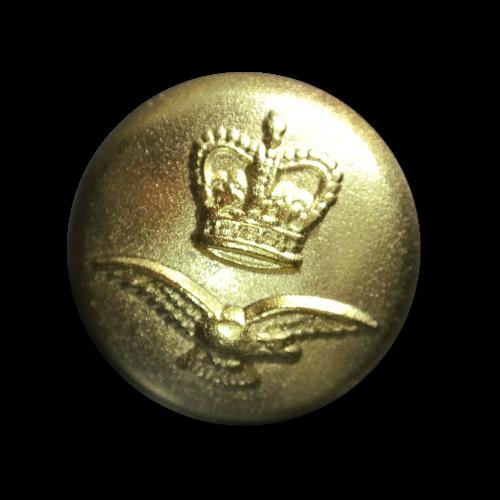 Goldfb. Knopf mit Krone und Adler