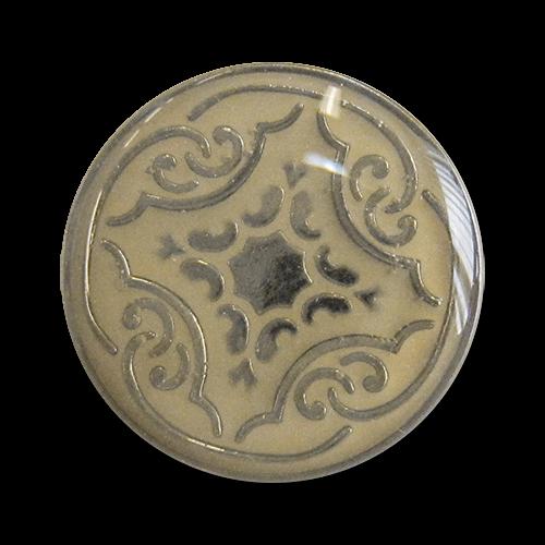www.knopfparadies,de - 3277mo - Schwere Metallknöpfe mit nostalgischem Muster