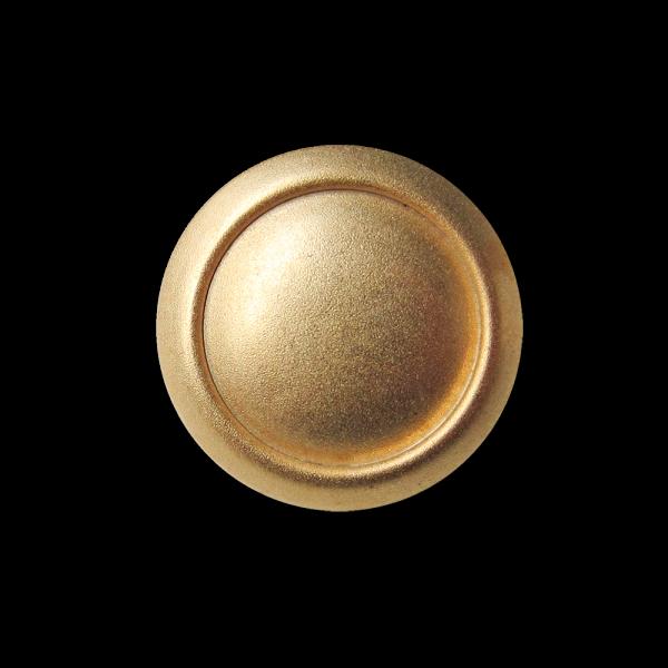 Leichter matt goldfb. Metallblech Knopf in Antik Optik