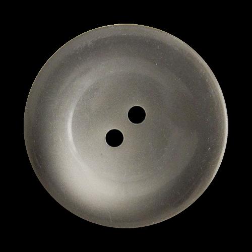 www.Knopfparadies.de - 2691gr - Riesige grau melierte Kunststoffknöpfe in Teller Form