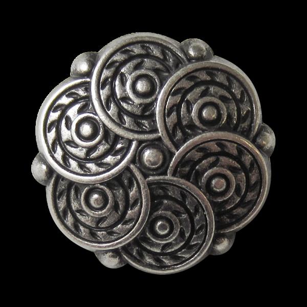 Beeindrucken Knopf mit Kreis Muster