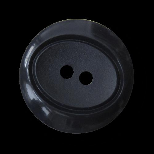 Dunkelblauer Zweiloch Knopf aus Kunststoff