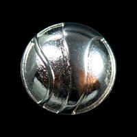 Silberfb. Metall Knopf mit asymmetrischem Muster