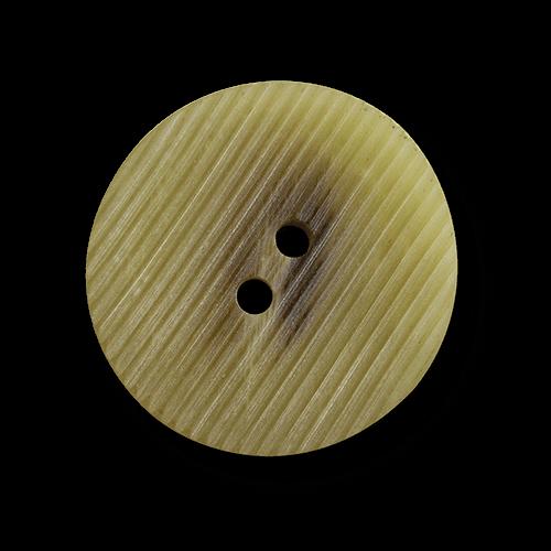 Beige melierter Mantelknopf mit zarter Riefelung