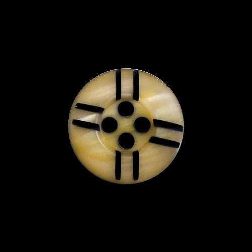 www.knopfparadies.de - 4386ge - Gelb schimmernde Blusenknöpfe mit vier Löchern