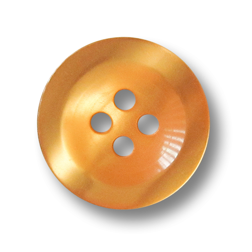 www.knopfparadies.de - 3610cl - Orange schimmernde Kunststoffknöpfe mit vier Löchern