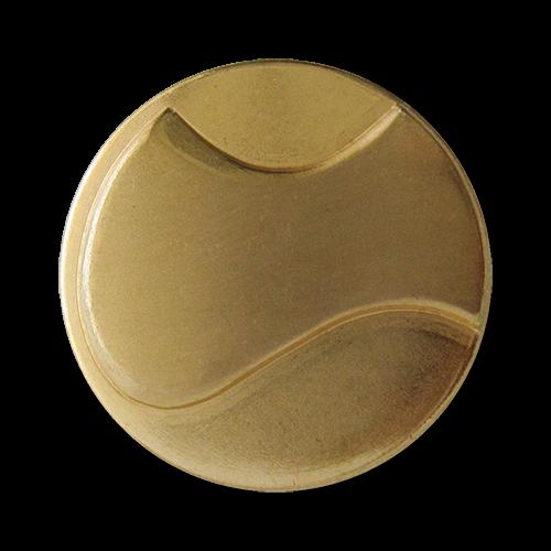 www.Knopfparadies.de - 1562go - Leichte moderne goldfarbene Ösen Metallblechknöpfe