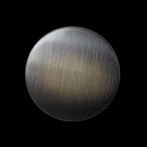 Metallblech Knopf in Eisenfarben mit gebürsteter Oberfläche