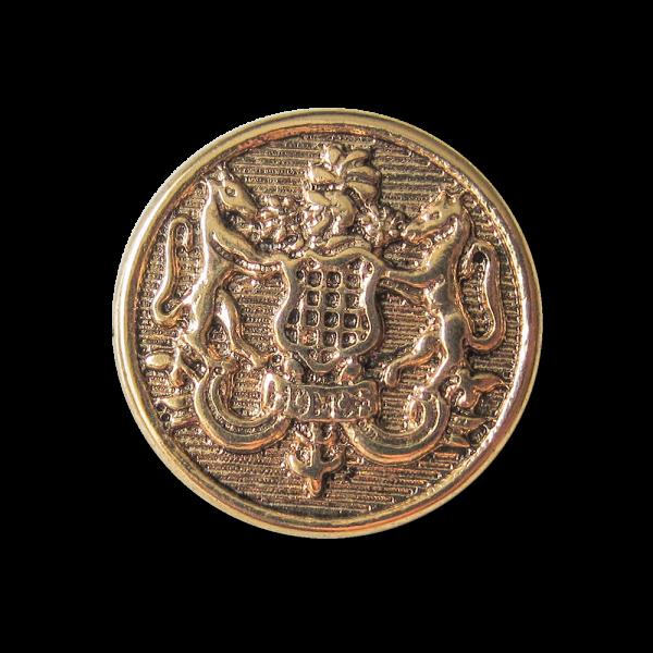 Altgoldfarbener Wappenknopf aus altgoldfarbenem Metall