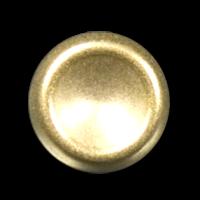 Leichter matt goldfarb. Metallblech Knopf In Napf Form