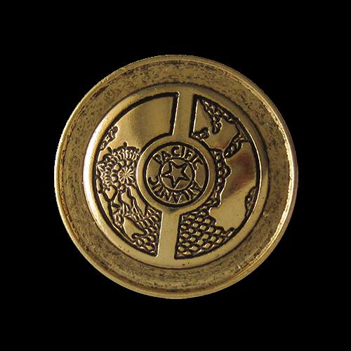Knopfparadies - Metallknöpfe altgold