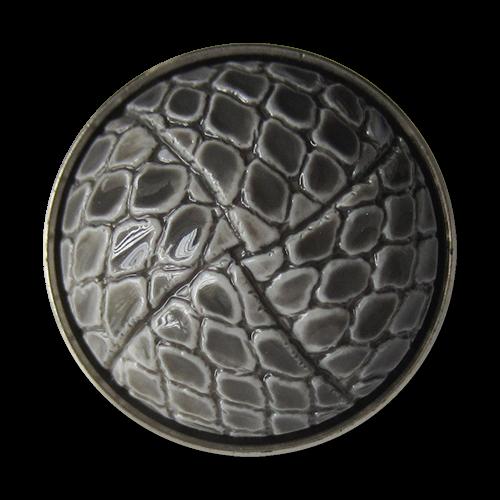 www.Knopfparadies.de - 4071gs - Exklusive silber graue Halbkugel Kunststoffknöpfe