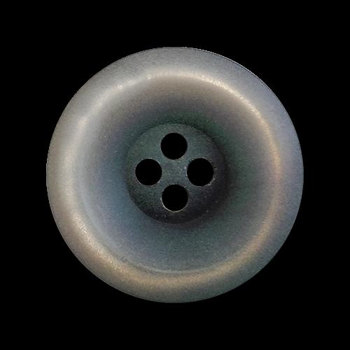 www.knopfparadies.de - 4289gr - Grau schimmernde Vierlochknöpfe aus Kunststoff