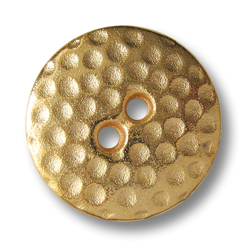www.Knopfparadies.de - 4143go - Pfiffige silberne Metallknöpfe mit Punkten