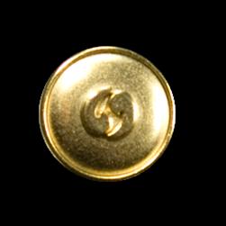 Metallknopf mit Symbolcharakter