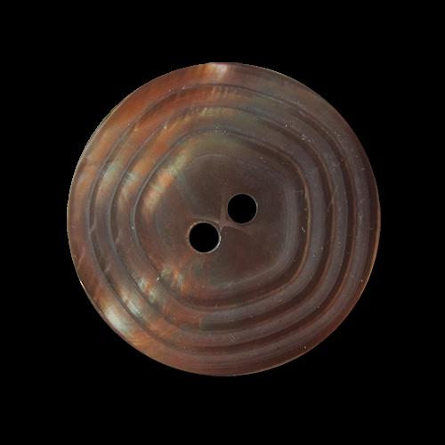Perlmutt-brauner Zweiloch Kunsttoff Knopf
