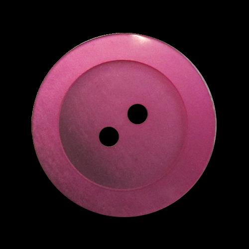www.knopfparadies.de - 2912li - Lila eingefärbte Kunststoffknöpfe mit zwei Löchern